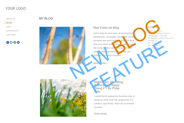 Try the new blog feature